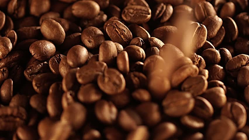 Seeds of coffee fall. Coffee beans. Coffee beans. quality of grain roasted coffee to spill in the bag , slow motion | Shutterstock HD Video #1008115420