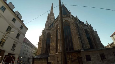 St. Stephen's Cathedral. Stephansdom. Vienna, Austria. Shot in 4K (ultra-high definition (UHD)).