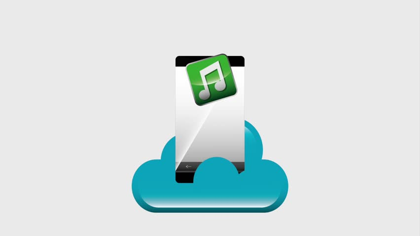 Mobile Phone Cloud Music Video Stock Footage Video (100% Royalty-free)  1008153250 | Shutterstock