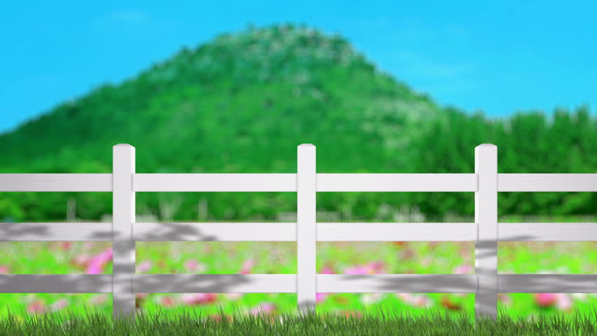 Fence Farm And Blur Nature Of Background Royalty Free Video