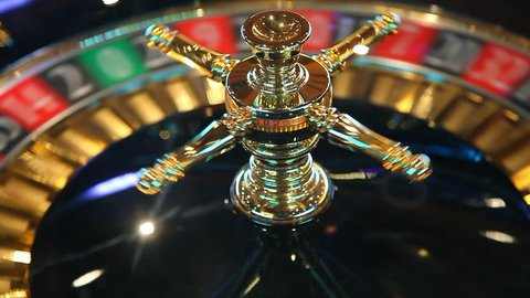 Casino roulette Wheel motion spinning during the gambling game
