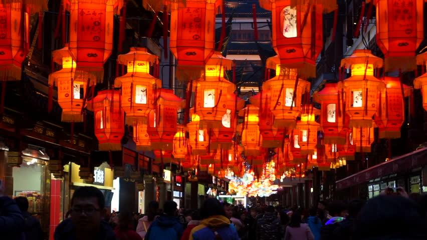 Shanghai,China:Feb.24,2018: 2018 Shanghai Yu Garden Lantern Show,  the most famous and influential folk activity during Spring Festival in Shanghai, began in February 1st, lasting to March 5th.