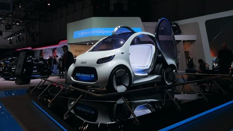GENEVA, 8 MARCH 2018 : « Geneva Motor Show 2018 » SMART electrical cars