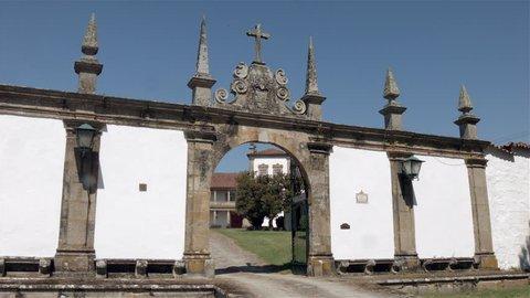 facade and family crest - ponte de lima- casa pomarchão