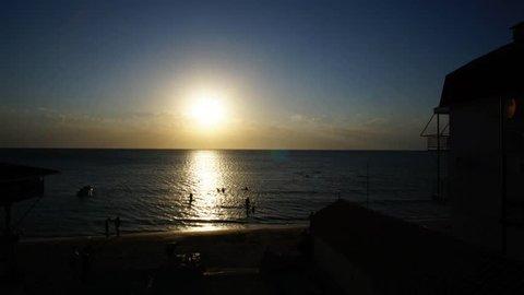 time laps surf Russian Bay at Kazantip Crimea summer evening