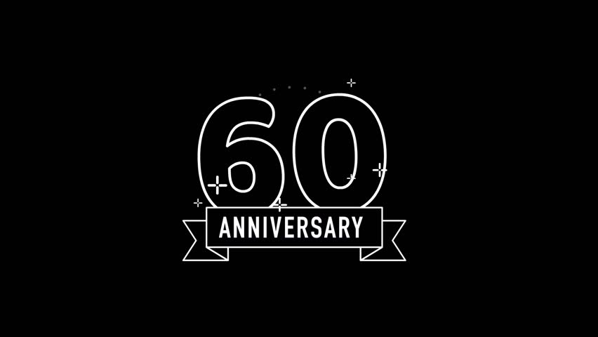 60th Anniversary looping video black and white
