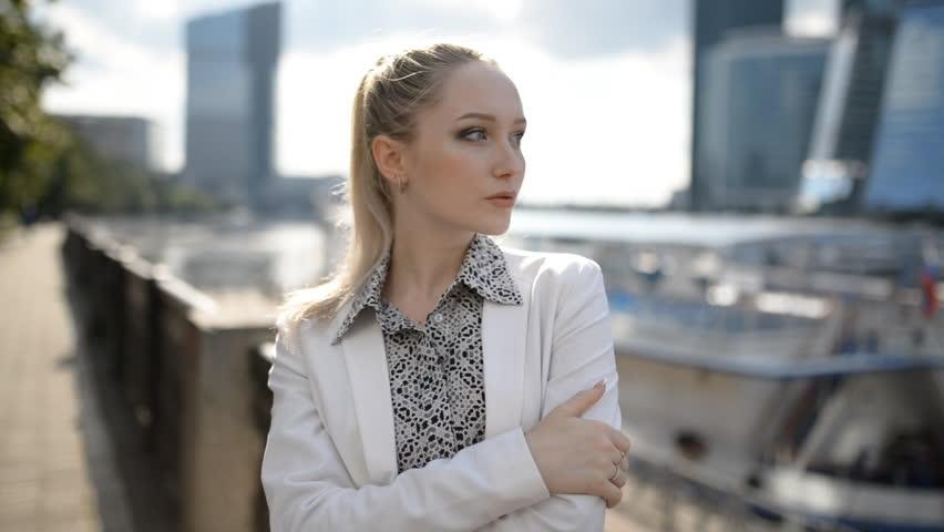 Beautiful young woman. Hand hield footage. | Shutterstock HD Video #1008838340