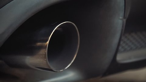 Exhaust Pipe with Blue Flame sport car