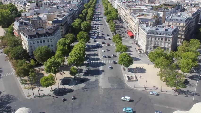View from the arc de triomphe | Shutterstock HD Video #1008872930