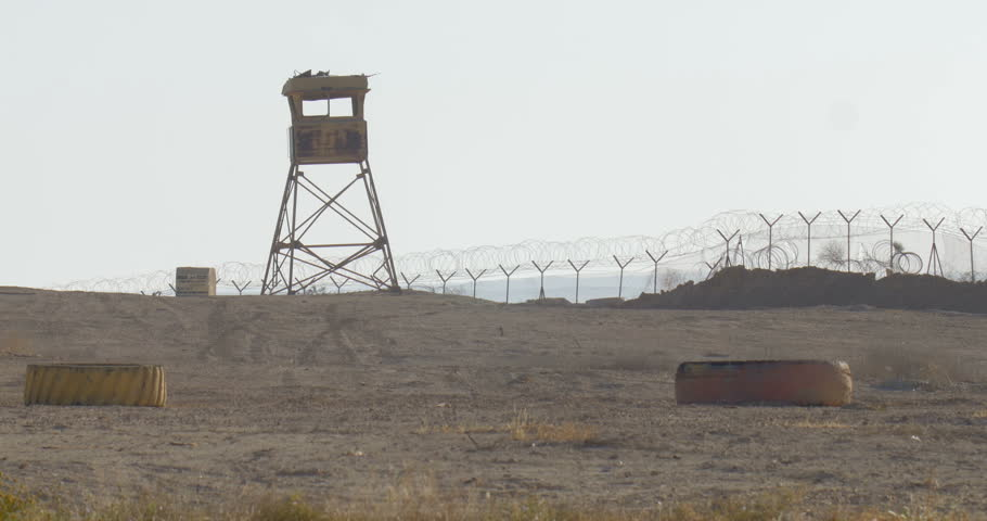 Israeli idf watch tower Army watch tower, Negev desert, Israel  | Shutterstock HD Video #1008997220