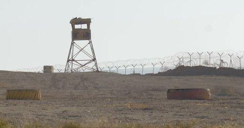 Israeli idf watch tower Army watch tower, Negev desert, Israel