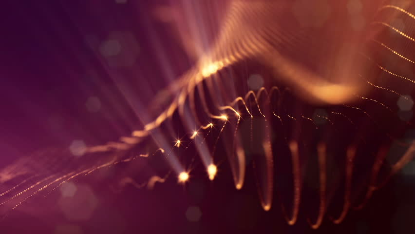 3d loop particles animation with depth of field, bokeh and light rays for interesting background or vj loop like microcosm or outer space. Seamless gold abstract background. V12 | Shutterstock HD Video #1009021310