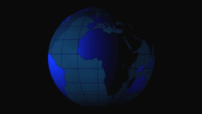 3D planet Earth animation  Rotating globe - Royalty Free Video