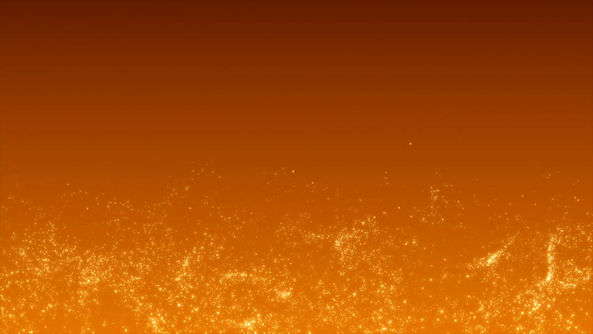 4K. Abstract gold motion background. Golden glitter bokeh particles