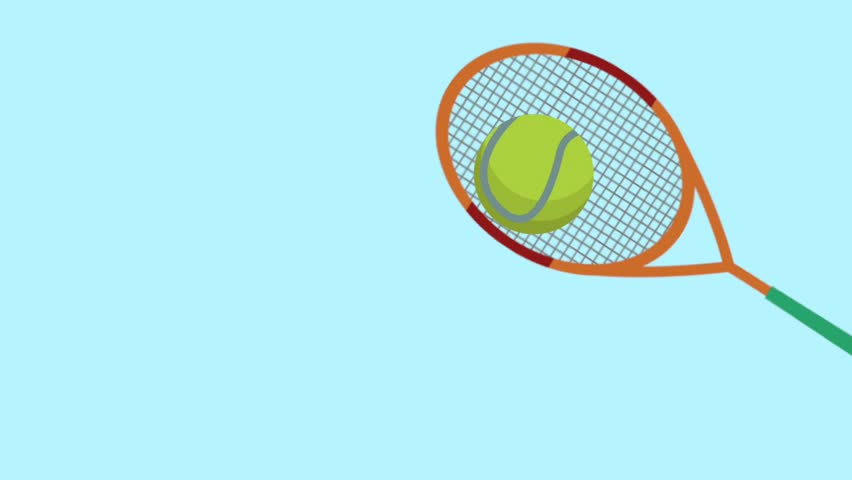 Racket And Tennis Ball Animation Stock Footage Video 100