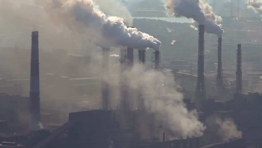Pollution of the Atmosphere by an Industrial Enterprise of the Metallurgical Industry. | Shutterstock HD Video #1009117700