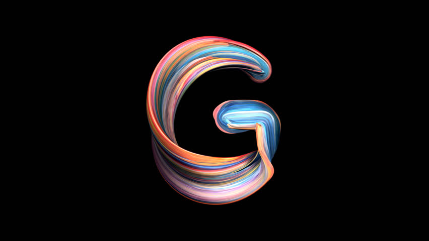 Letter G - Playdough alphabet 3D animation, with alpha channel for titles and intros.