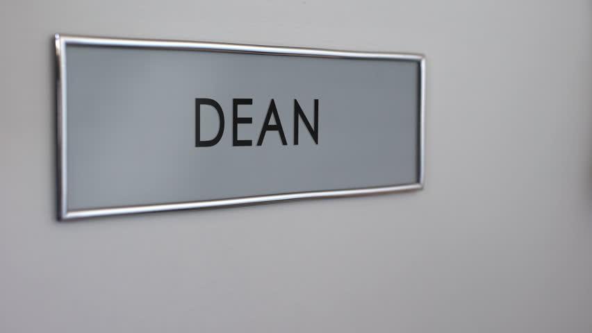 Dean office door hand knocking chief executive officer school director - 4K stock & Principal Office Door Hand Knocking Chief Executive Officer ...