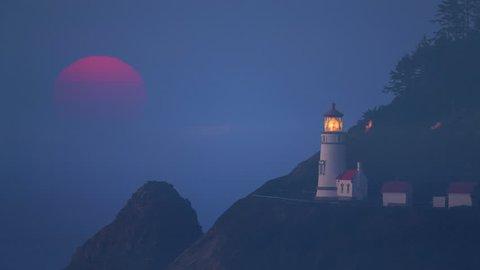 Mystic Sunset at Heceta Head Lighthouse, Oregon