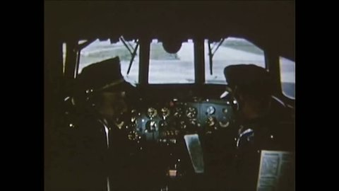 CIRCA 1950 - Arthur Godfrey pilots the new Eastern Airlines Constellation in 1953.