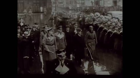 CIRCA 1930s - Diplomats agree to the German-Soviet Nonaggression Pact and Adolf Hitler speaks at a Nazi rally in 1939.