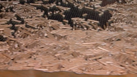 pellet production at the timber processing enterprise