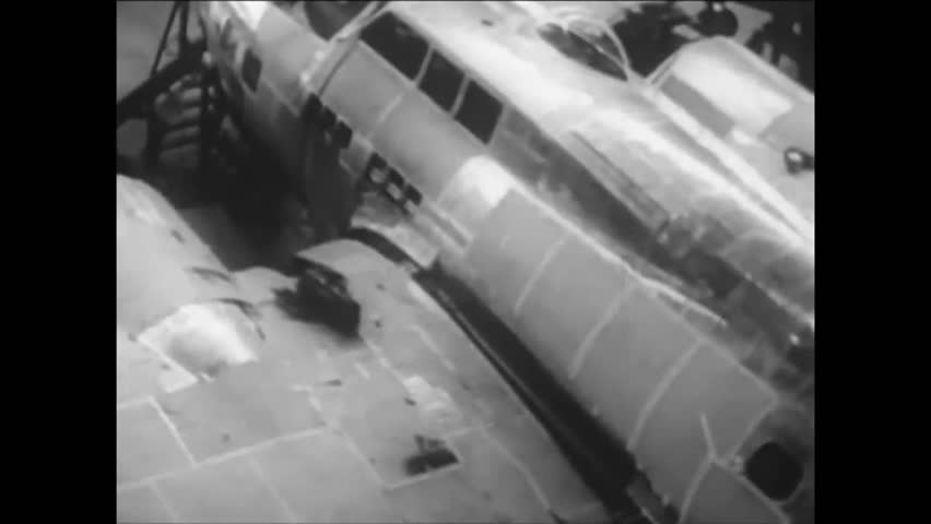 CIRCA 1930s - Officials at Boeing test fly the B17 in the 1930's.