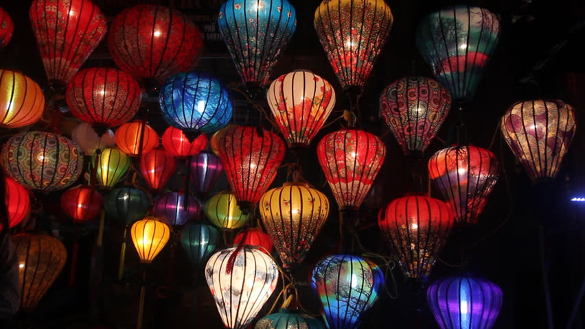 Taken during vacation in Hoi an.Various types of lanterns made by locals vietnam are sold in Hoi An night market. | Shutterstock HD Video #1009346150