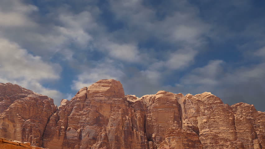 Wadi Rum Desert Also Known As The Valley Of The Moon Is A Valley Cut Into