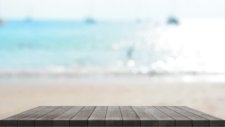 Table on outdoor beach backgrounds | Shutterstock HD Video #1009396730