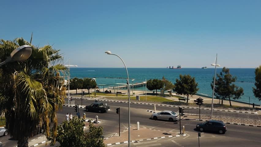 Aerial footage of Limassol, Cyprus