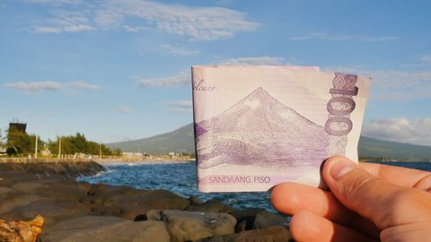 Philippine money. A Filipino monetary note in one hundred pesos is dedicated to the Mayon volcano.