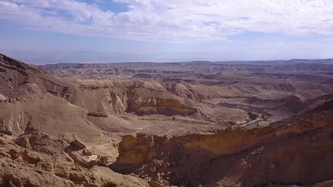 Aerial footage of the negev desert in israel