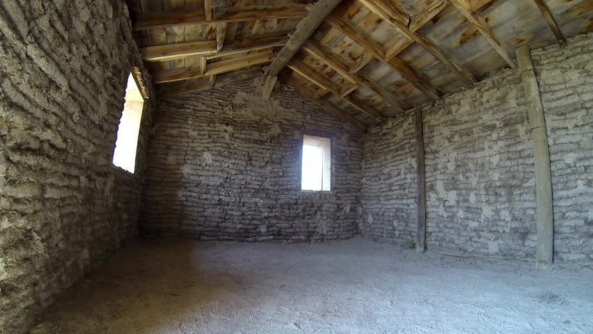 History Toadstool State Park Summer Pioneer Homestead Homesteading Sod House Hut Home Inside Pan