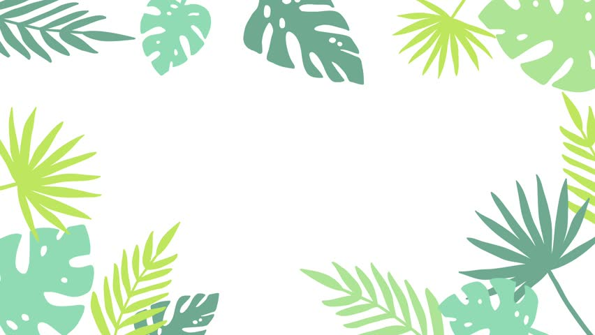 Tropical Jungle Background Frame of Palm Tree Leaves. 4K Animated Footage. | Shutterstock HD Video #1009565630