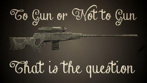 USA Gun Prohibition Shakespeare Version Vintage Animation