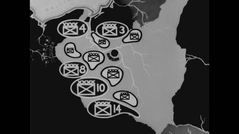 CIRCA 1943 - The Nazi German Army advances throughout Poland and surrounds Warsaw in September 1939.