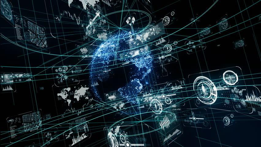 Futuristic graphical user interface. | Shutterstock HD Video #1009636190