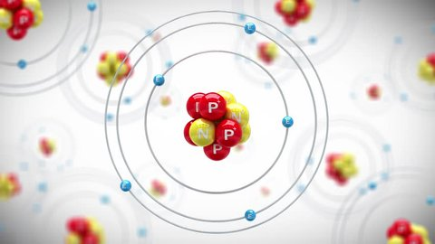 Animation of Boron atom. Looping animation.(images are available!)