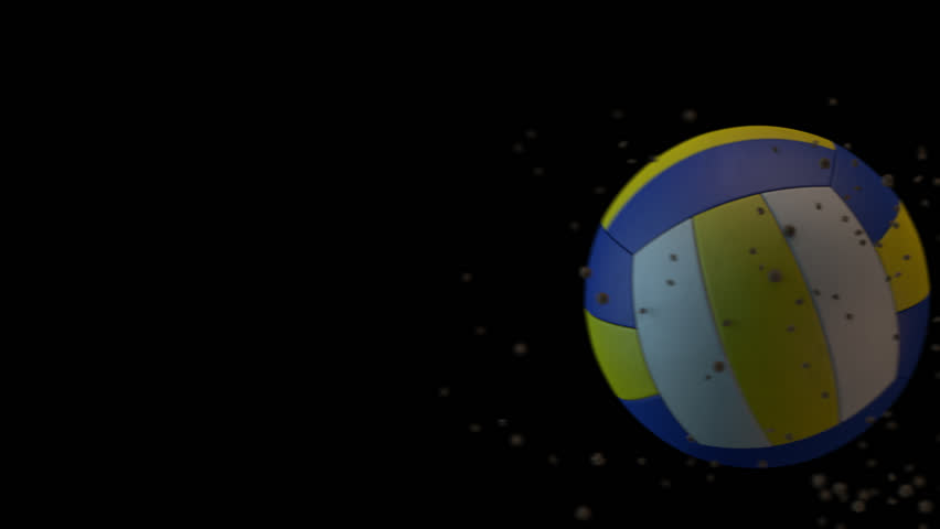 Volleyball ball in motion | Shutterstock HD Video #1009777640