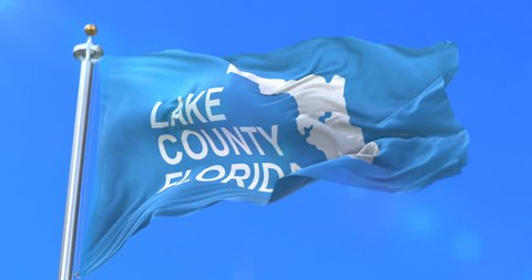 Flag of Lake County of the state of Florida, in United States - loop