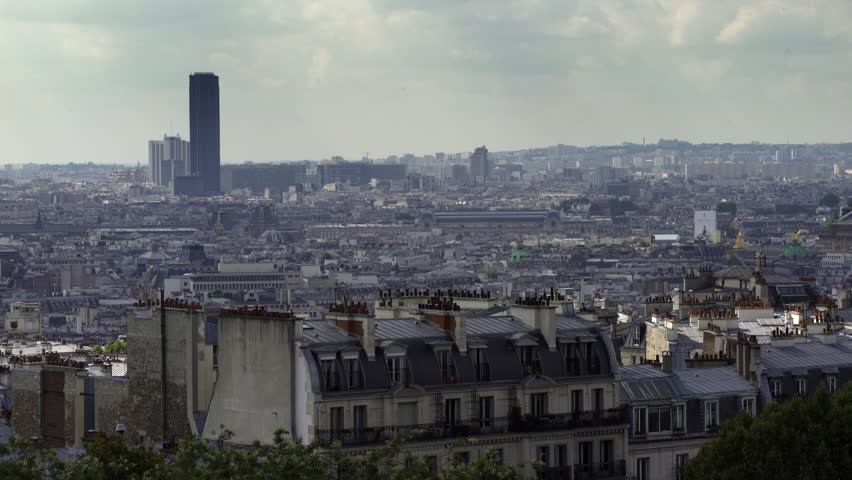 PARIS, FRANCE – SEPTEMBER 2016 : Video shot over central Paris cityscape on a beautiful day | Shutterstock HD Video #1009990760
