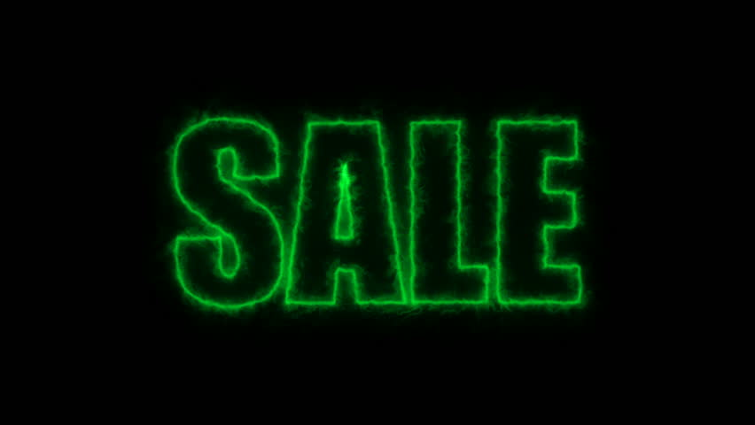 Letters of Sale text on black, 3d render background, computer generating for trading   Shutterstock HD Video #1009997780