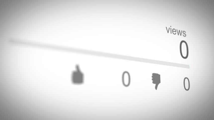 Social Media View Counter 01 Blue   Shutterstock HD Video #1010012690