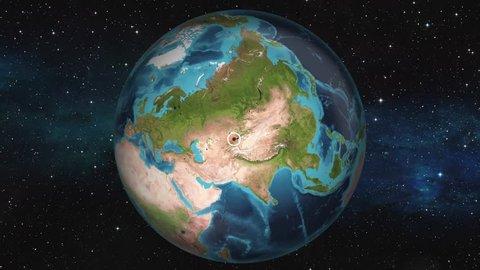 Earth Zoom In Map - Bishkek
