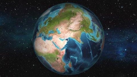 Earth Zoom In Map - Muscat