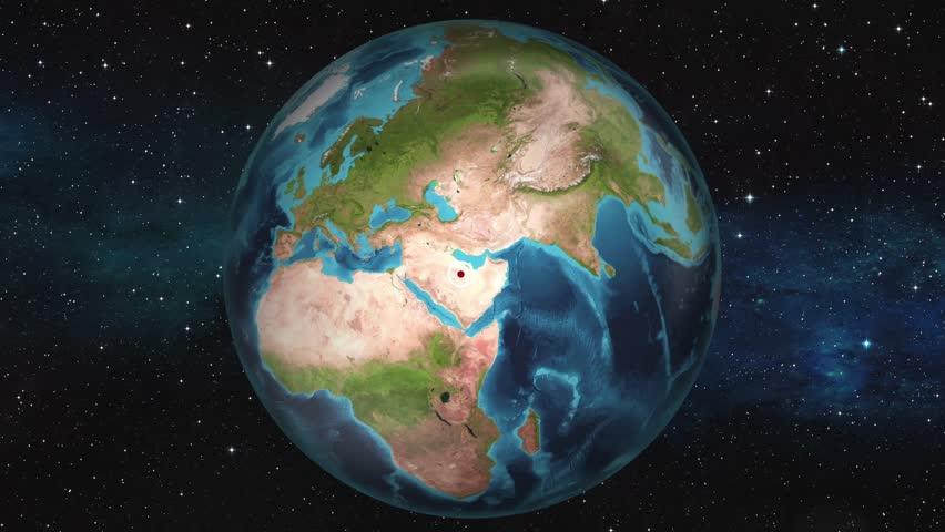 Earth Zoom In Map - Riyadh