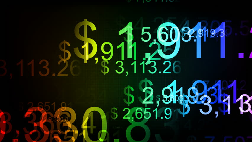 Animation of Abstract Number Background. Finance Data Concept. Counters of Numbers of Currency Rates . Seamless Loop. | Shutterstock HD Video #1010064260