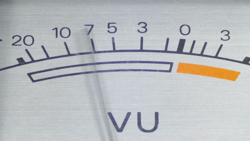 Dial Indicator Gauge Signal Level Meter. Analog signal indicator. Dial gauge modes Tape Recorder. Close-up. White of the pointer, black numbers, and arrow. | Shutterstock HD Video #1010096510