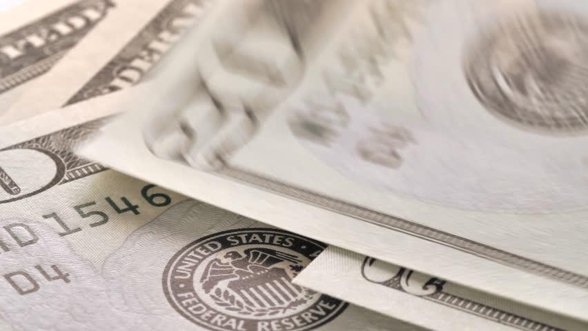 Dollar bills close up, money background. Portrait of Andrew Jackson.